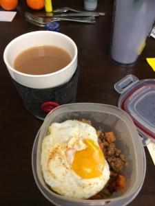 breakfast at my desk