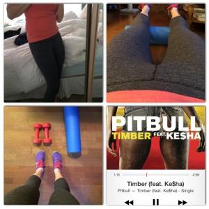 Some snapshots of my workout featuring my crops.  The soundtrack of the wod was Timber.  Can't. Get. Enough.