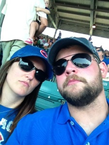 At the Cubs game last summer