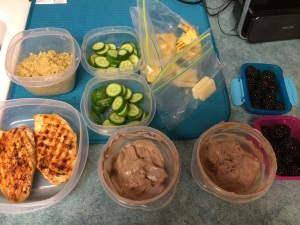 snacks, chicken, quinoa cooked up- perfect for quick servings during the week. #likeaboss